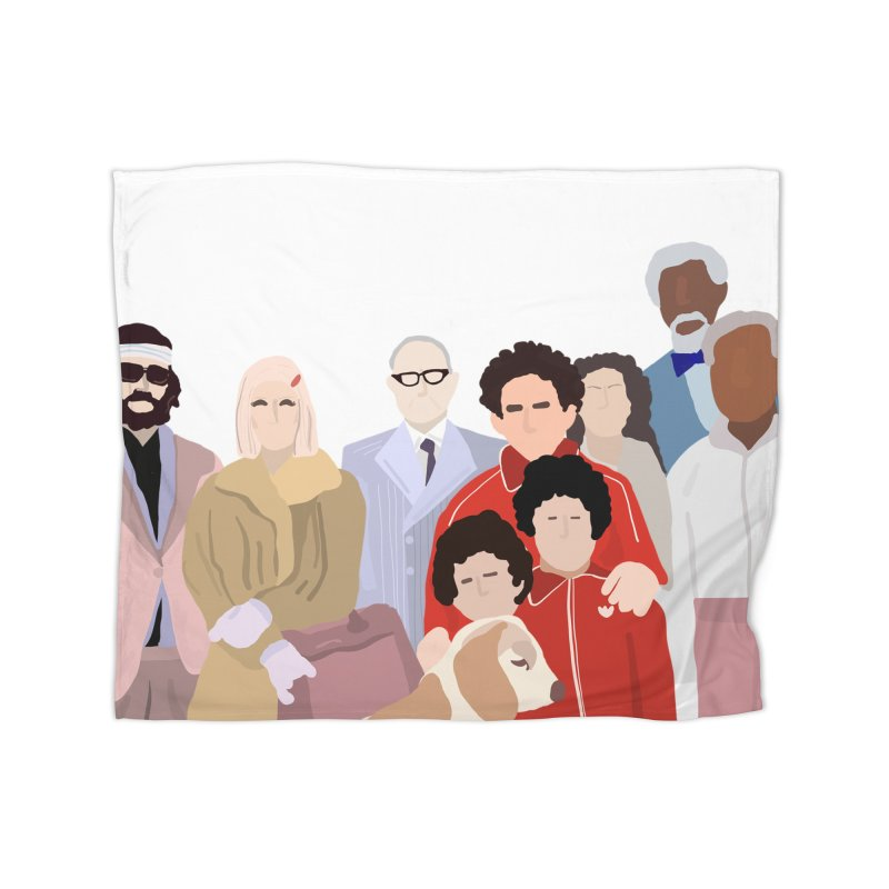 The Royal Tenenbaums Home Fleece Blanket Blanket by Alison Sommer's Artist Shop