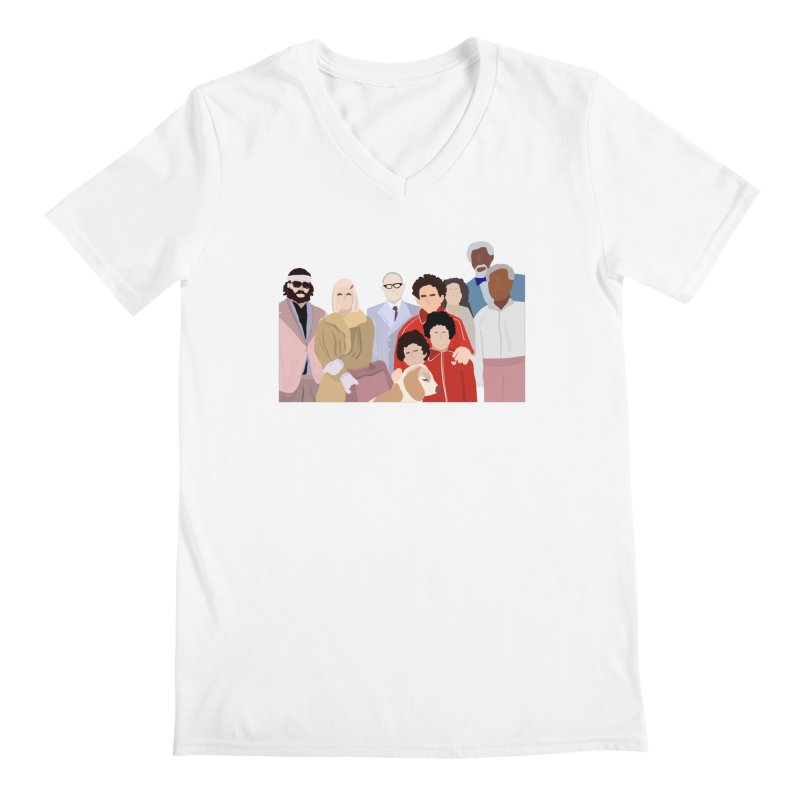 The Royal Tenenbaums Men's V-Neck by Alison Sommer's Artist Shop
