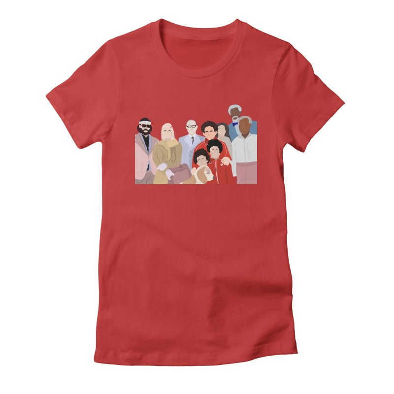 The Royal Tenenbaums Women's Fitted T-Shirt by Alison Sommer's Artist Shop