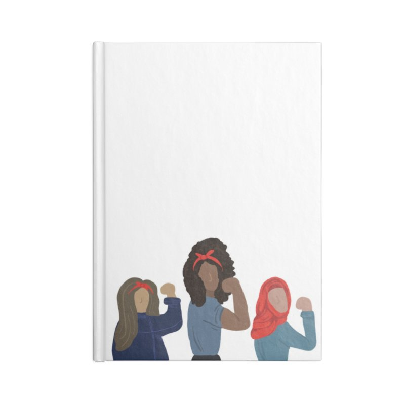 We Can Do It Accessories Blank Journal Notebook by Alison Sommer's Artist Shop