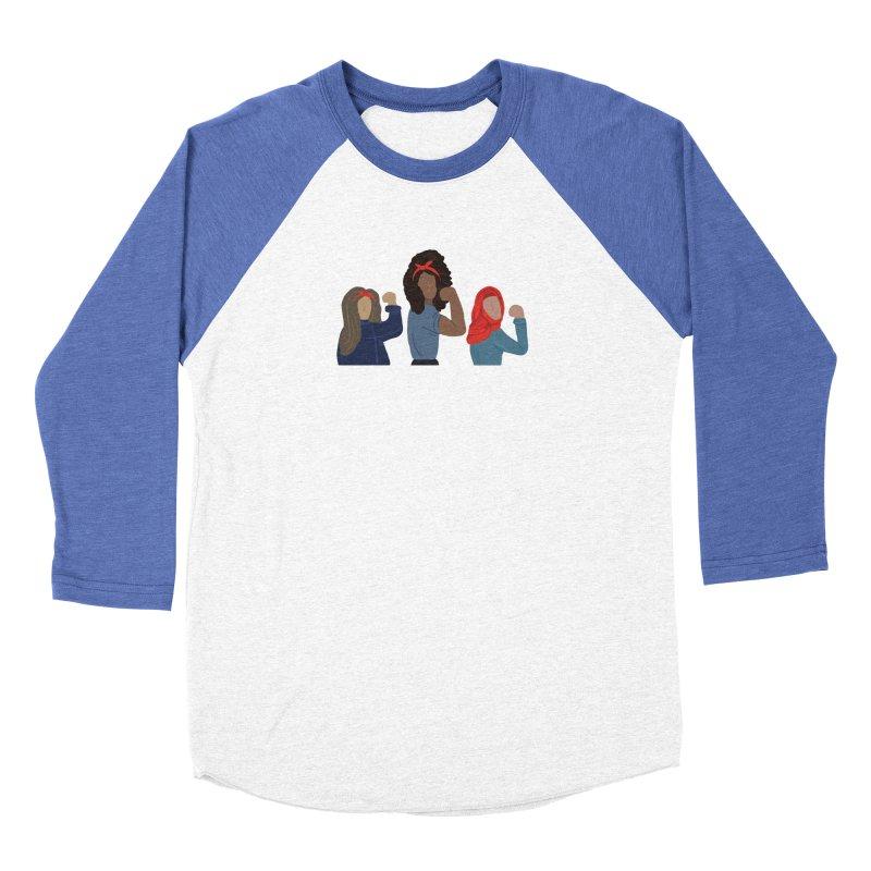 We Can Do It Women's Baseball Triblend Longsleeve T-Shirt by Alison Sommer's Artist Shop