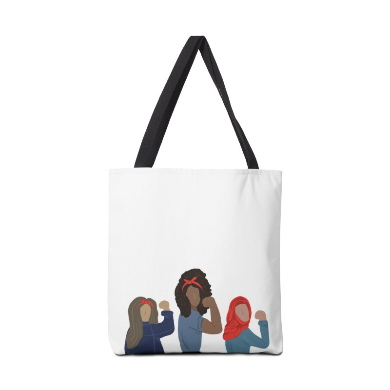 We Can Do It Accessories Bag by Alison Sommer's Artist Shop