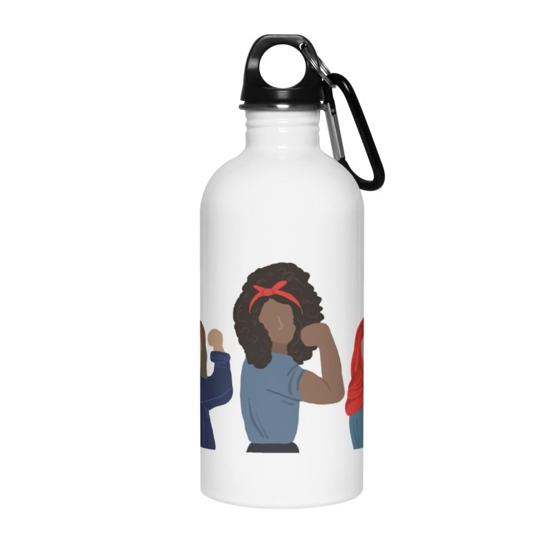 We Can Do It Accessories Water Bottle by Alison Sommer's Artist Shop