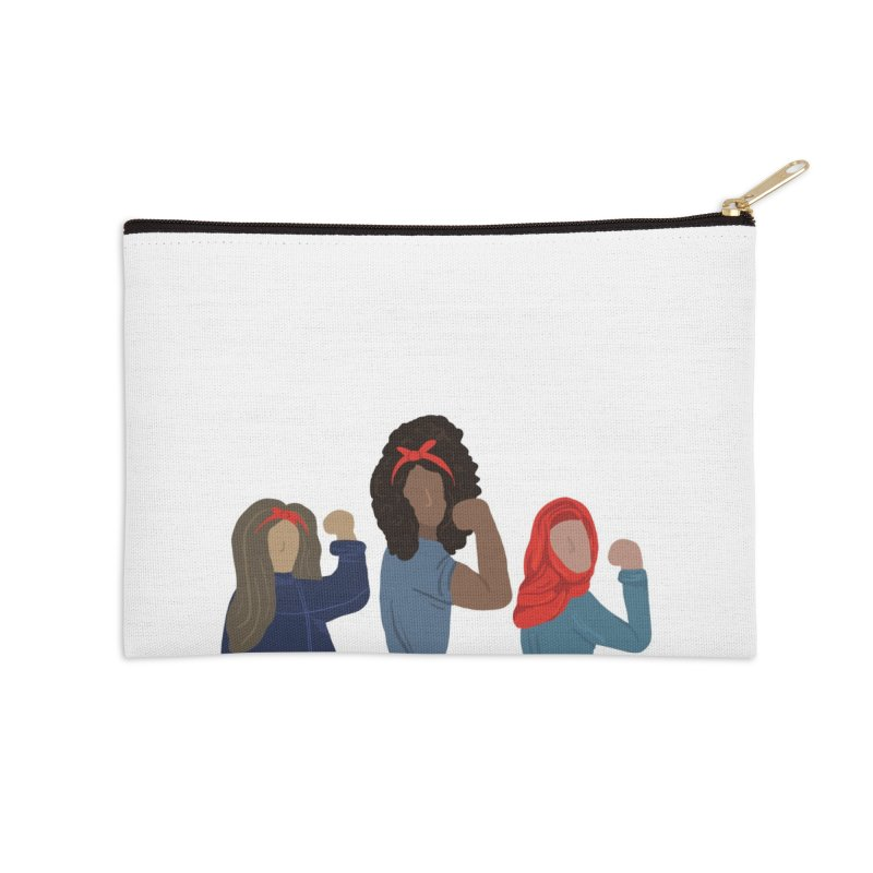 We Can Do It Accessories Zip Pouch by Alison Sommer's Artist Shop