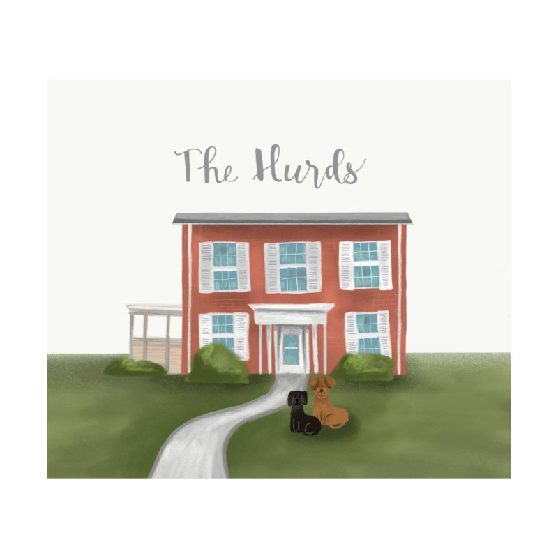 The Hurds 2 Home Fine Art Print by Alison Sommer's Artist Shop