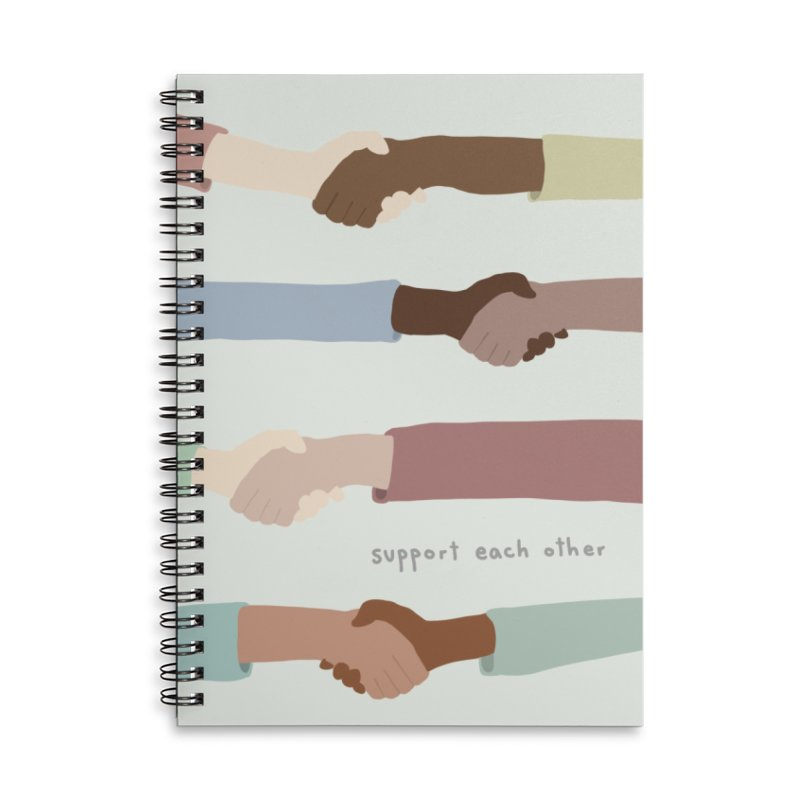 Support Each Other Accessories Notebook by Alison Sommer's Artist Shop