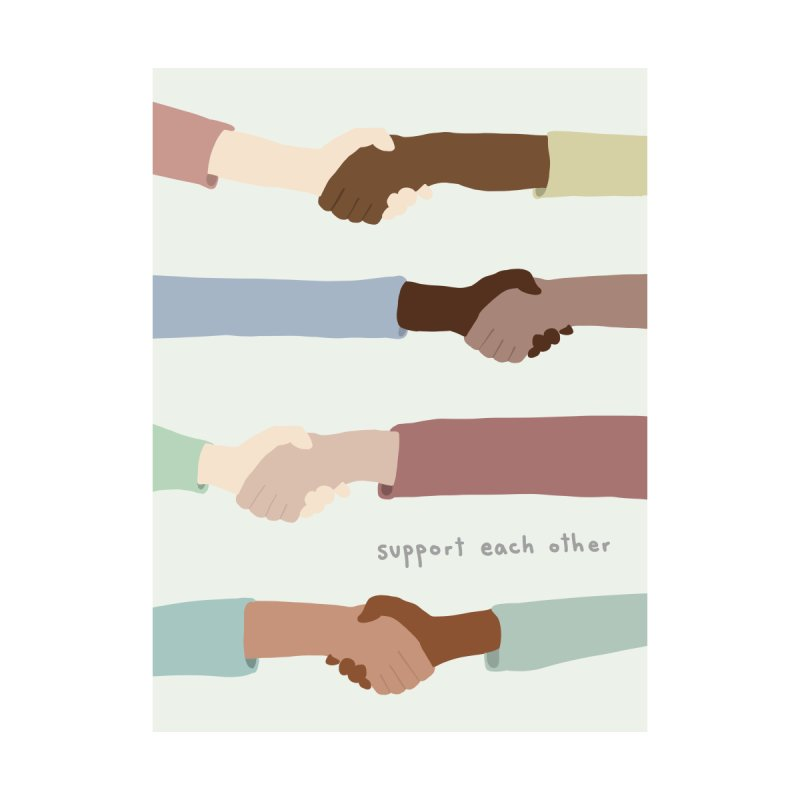 Support Each Other Home Framed Fine Art Print by Alison Sommer's Artist Shop