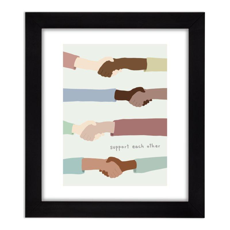 Support Each Other Home Framed Fine Art Print by Alison Sommer's Artist Shop