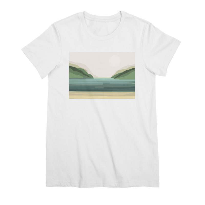 Lake View Women's T-Shirt by Alison Sommer's Artist Shop