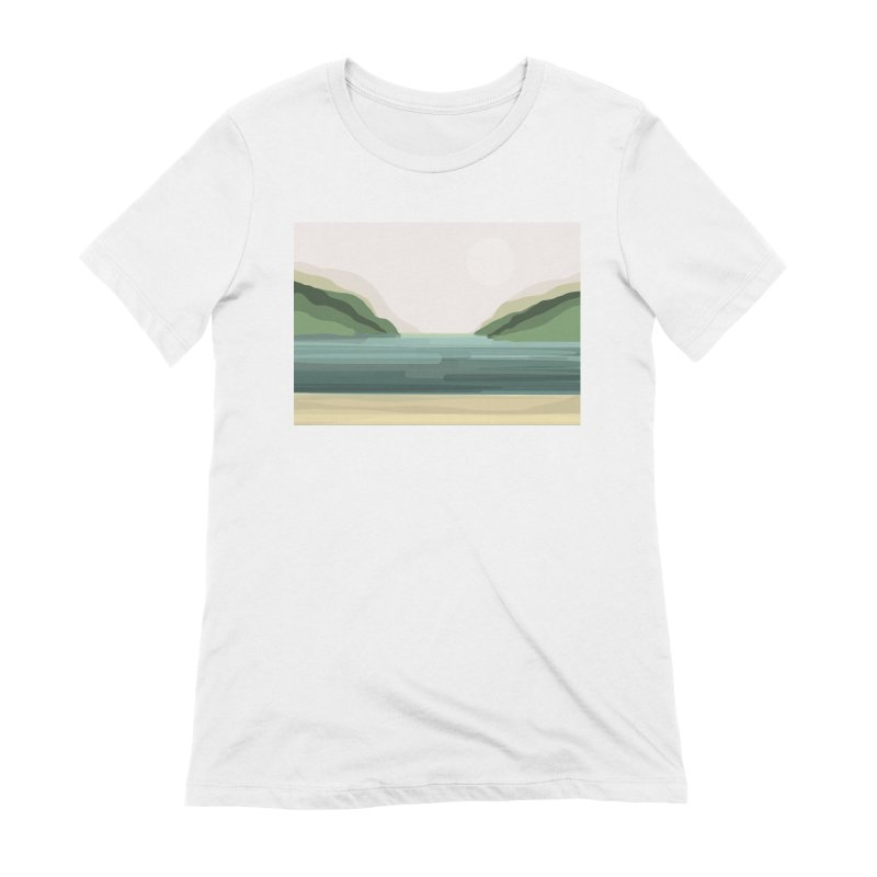 Lake View Women's Extra Soft T-Shirt by Alison Sommer's Artist Shop