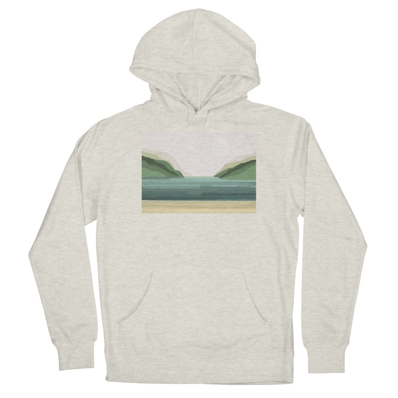 Lake View Men's Pullover Hoody by Alison Sommer's Artist Shop