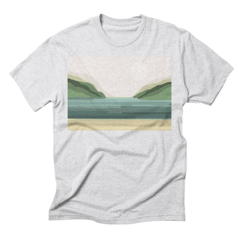 Lake View Men's T-Shirt by Alison Sommer's Artist Shop