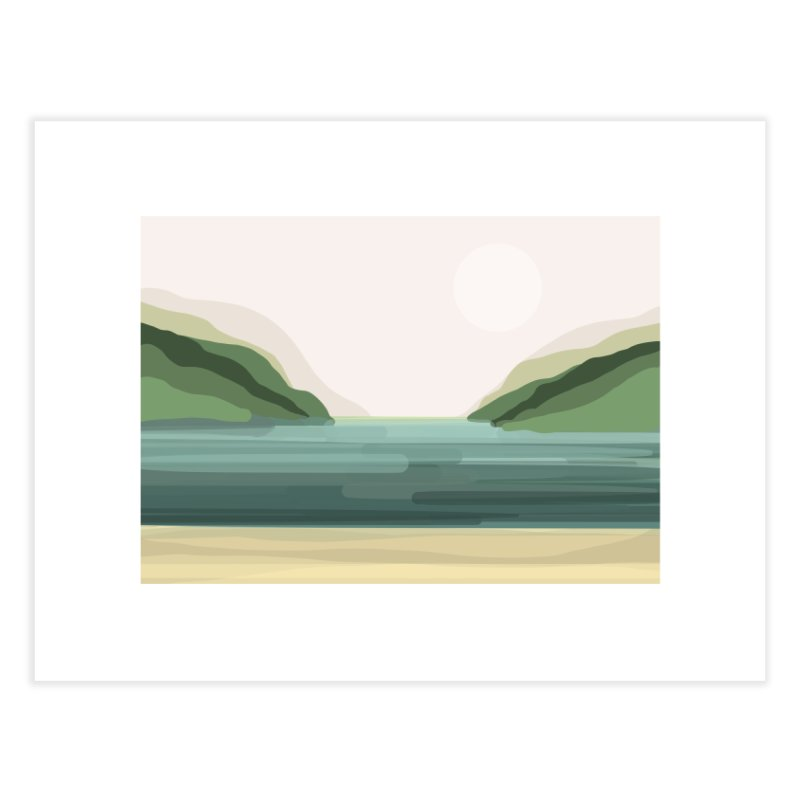 Lake View Home Fine Art Print by Alison Sommer's Artist Shop
