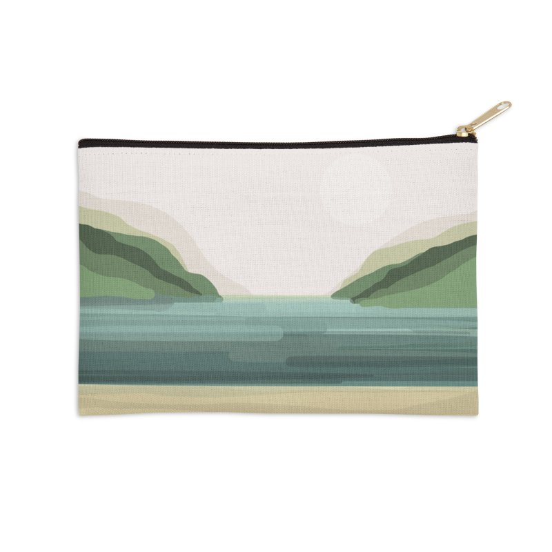 Lake View Accessories Zip Pouch by Alison Sommer's Artist Shop