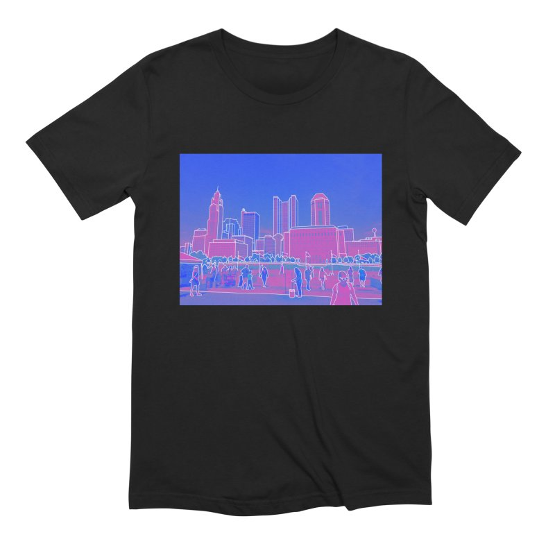 Columbus, OH (Color) Men's Extra Soft T-Shirt by Alison Sommer's Artist Shop
