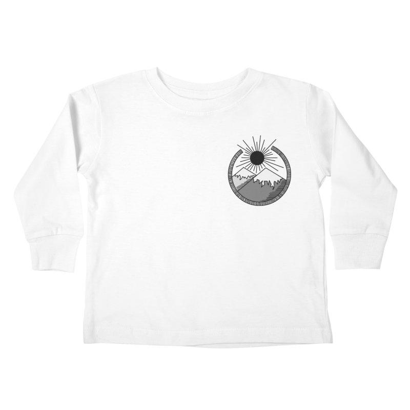 Mountains Kids Toddler Longsleeve T-Shirt by Alison Sommer's Artist Shop
