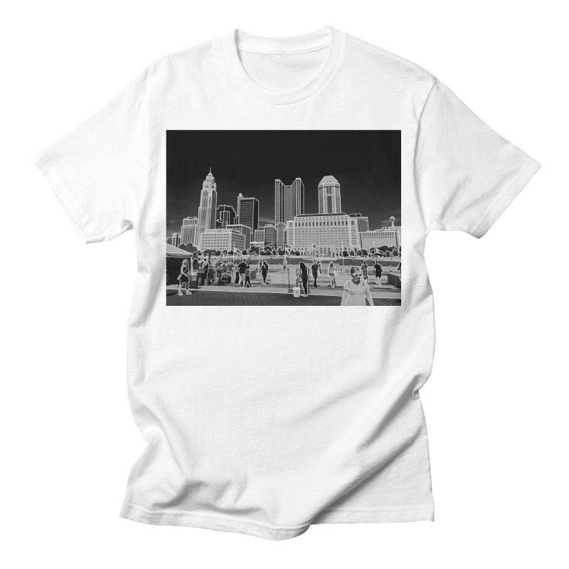 Columbus, OH (B&W) Men's T-Shirt by Alison Sommer's Artist Shop