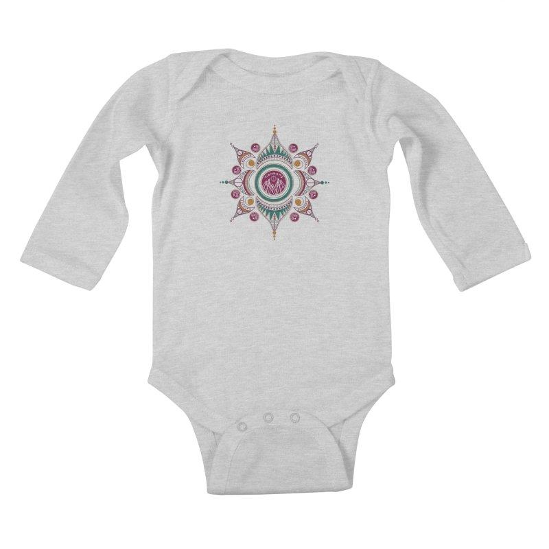 Harmony Kids Baby Longsleeve Bodysuit by Alison Sommer's Artist Shop