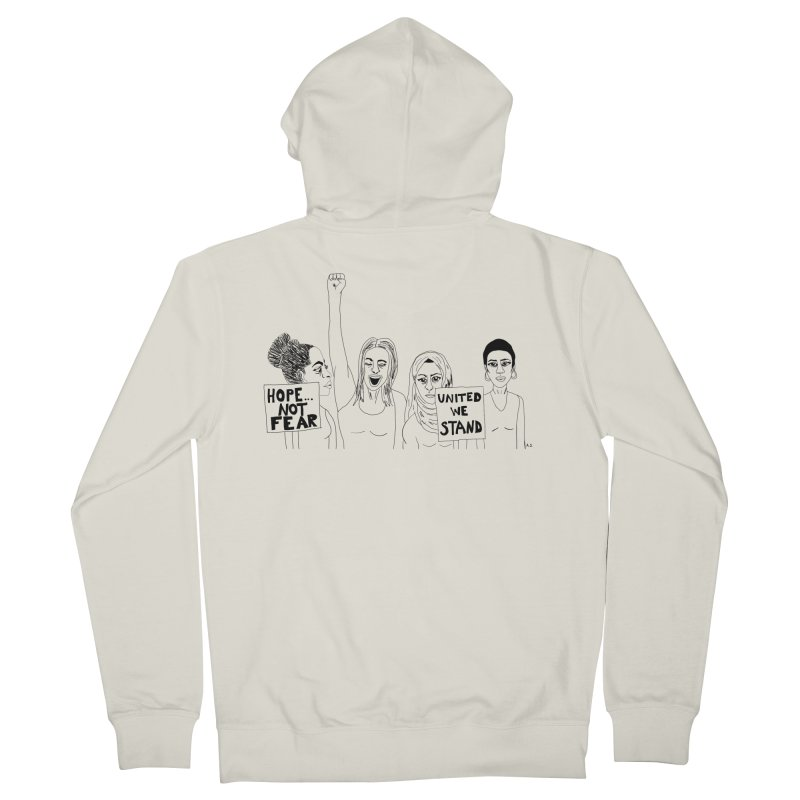 Unity Men's French Terry Zip-Up Hoody by Alison Sommer's Artist Shop