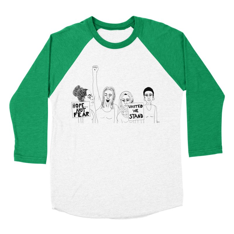 Unity Men's Baseball Triblend Longsleeve T-Shirt by Alison Sommer's Artist Shop