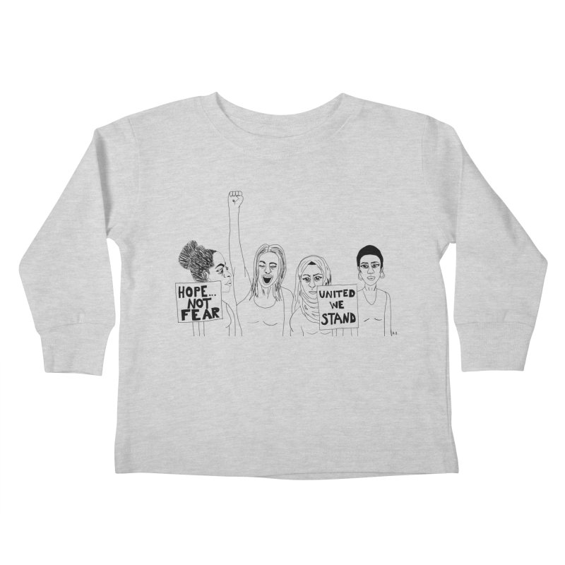 Unity Kids Toddler Longsleeve T-Shirt by Alison Sommer's Artist Shop