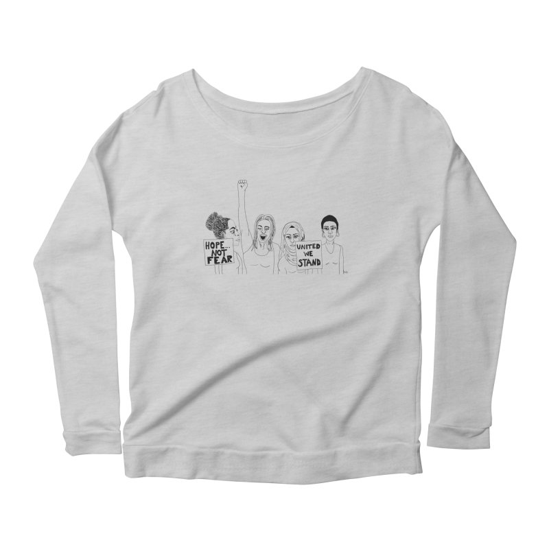 Unity Women's Scoop Neck Longsleeve T-Shirt by Alison Sommer's Artist Shop