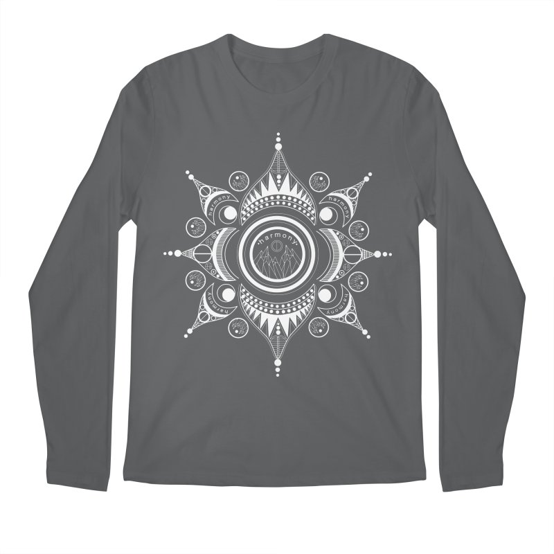 Harmony (White) Men's Longsleeve T-Shirt by Alison Sommer's Artist Shop