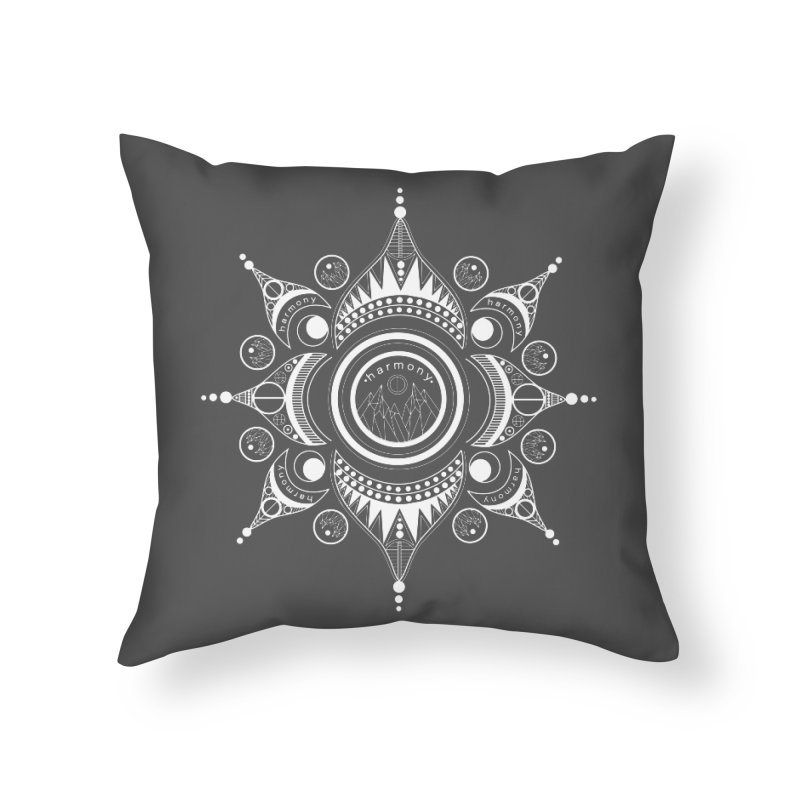 Harmony (White) Home Throw Pillow by Alison Sommer's Artist Shop