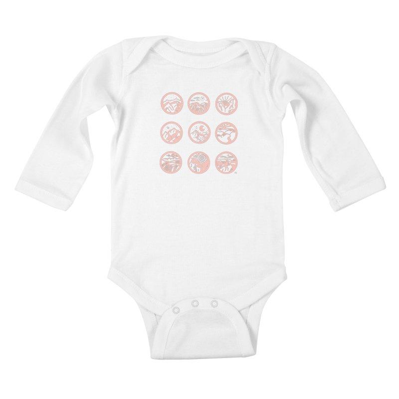 Pink Mountains Kids Baby Longsleeve Bodysuit by Alison Sommer's Artist Shop