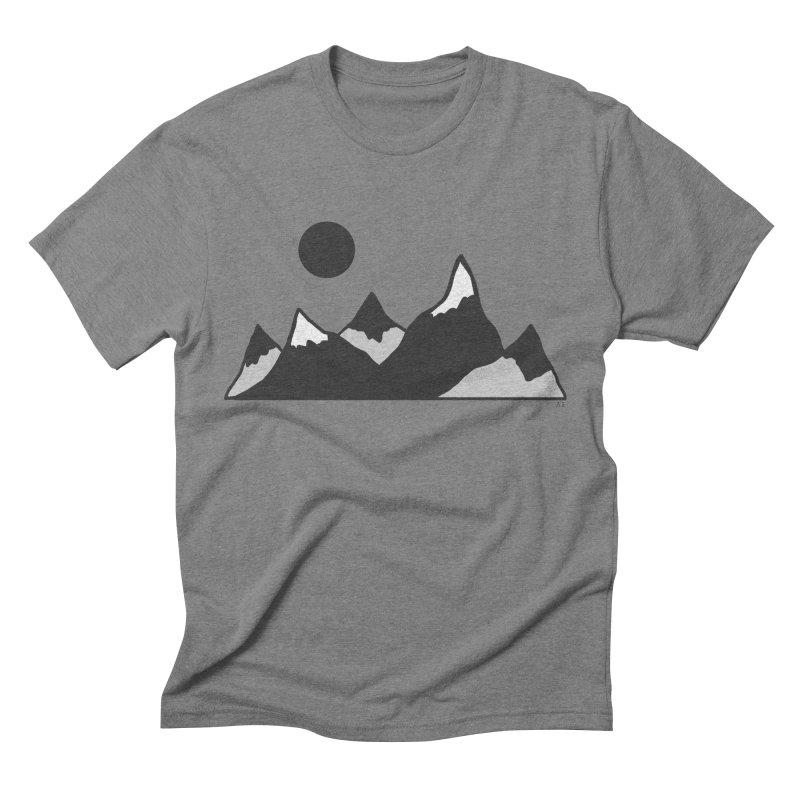 Gray Mountains Men's T-Shirt by Alison Sommer's Artist Shop