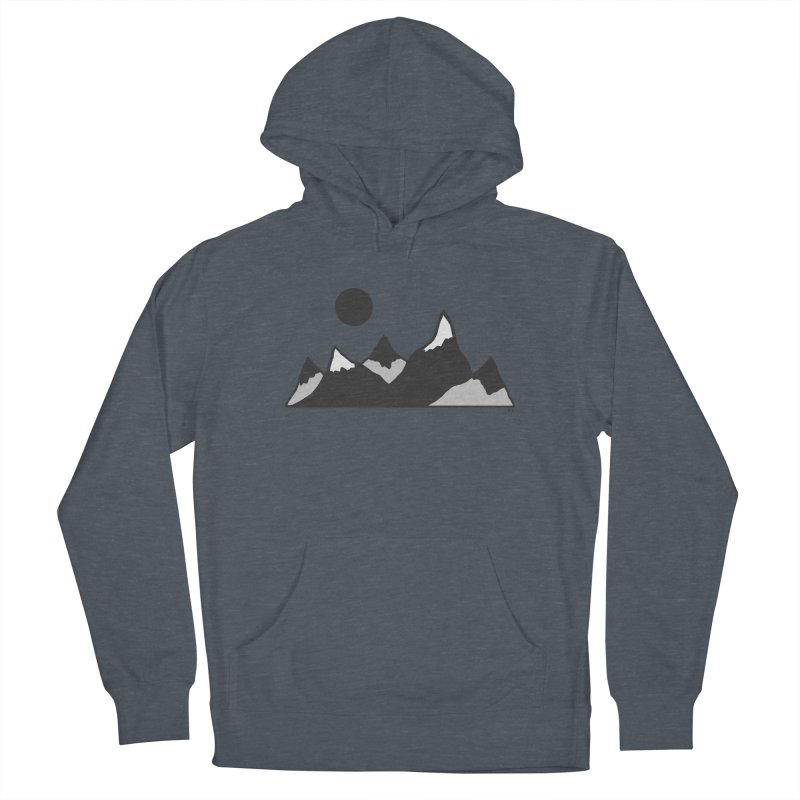 Gray Mountains Men's Pullover Hoody by Alison Sommer's Artist Shop