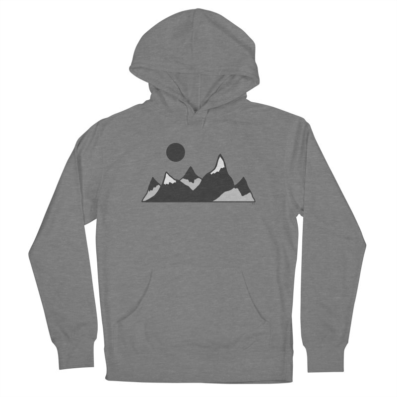 Gray Mountains Women's Pullover Hoody by Alison Sommer's Artist Shop