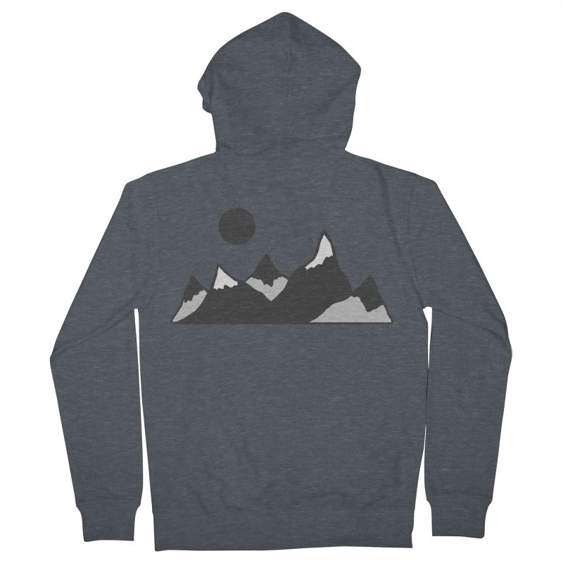 Gray Mountains Women's French Terry Zip-Up Hoody by Alison Sommer's Artist Shop