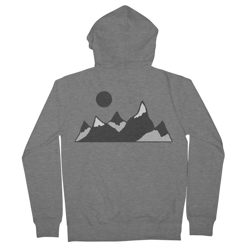 Gray Mountains Men's French Terry Zip-Up Hoody by Alison Sommer's Artist Shop