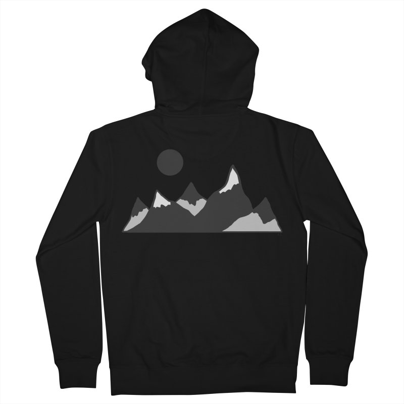 Gray Mountains Men's Zip-Up Hoody by Alison Sommer's Artist Shop