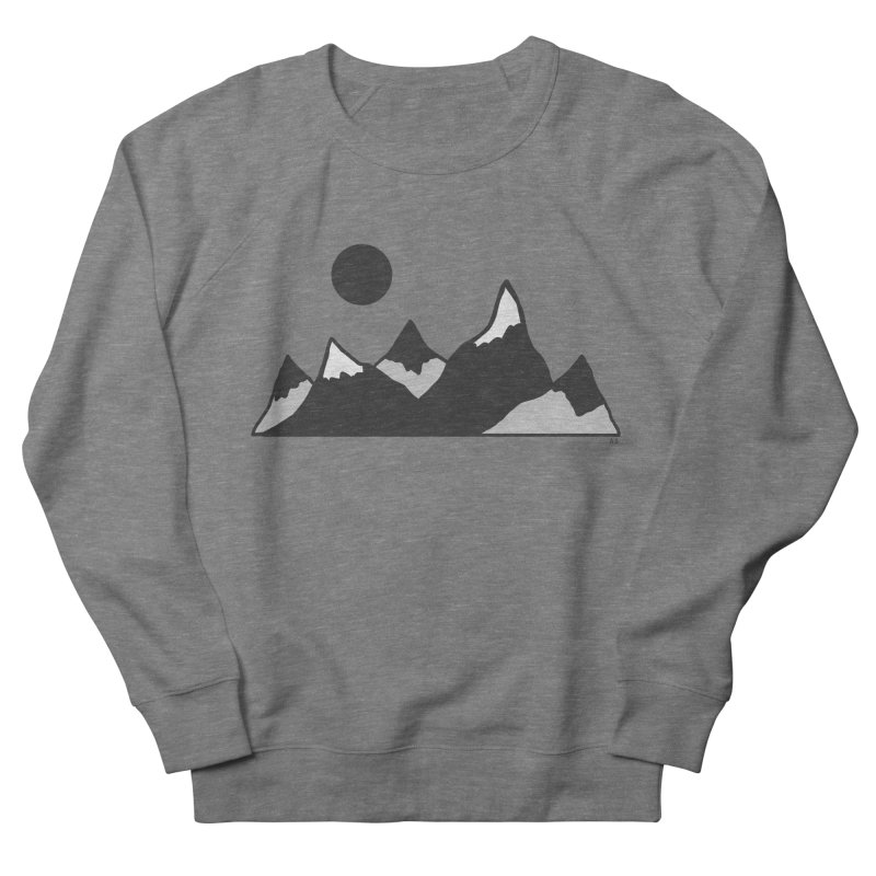 Gray Mountains Men's French Terry Sweatshirt by Alison Sommer's Artist Shop