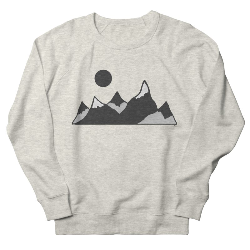 Gray Mountains Men's Sweatshirt by Alison Sommer's Artist Shop