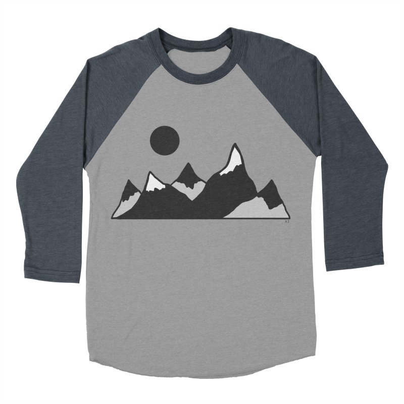 Gray Mountains Men's Baseball Triblend Longsleeve T-Shirt by Alison Sommer's Artist Shop