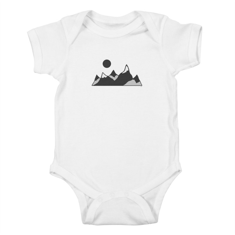 Gray Mountains Kids Baby Bodysuit by Alison Sommer's Artist Shop