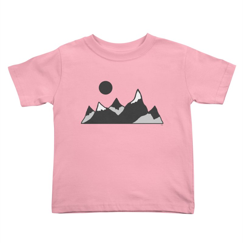 Gray Mountains Kids Toddler T-Shirt by Alison Sommer's Artist Shop
