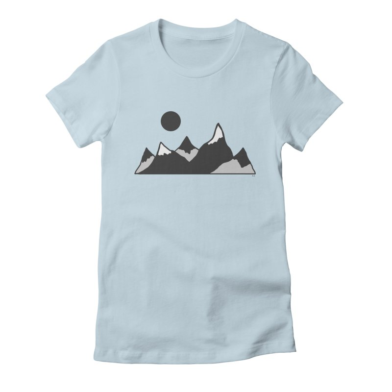 Gray Mountains Women's T-Shirt by Alison Sommer's Artist Shop