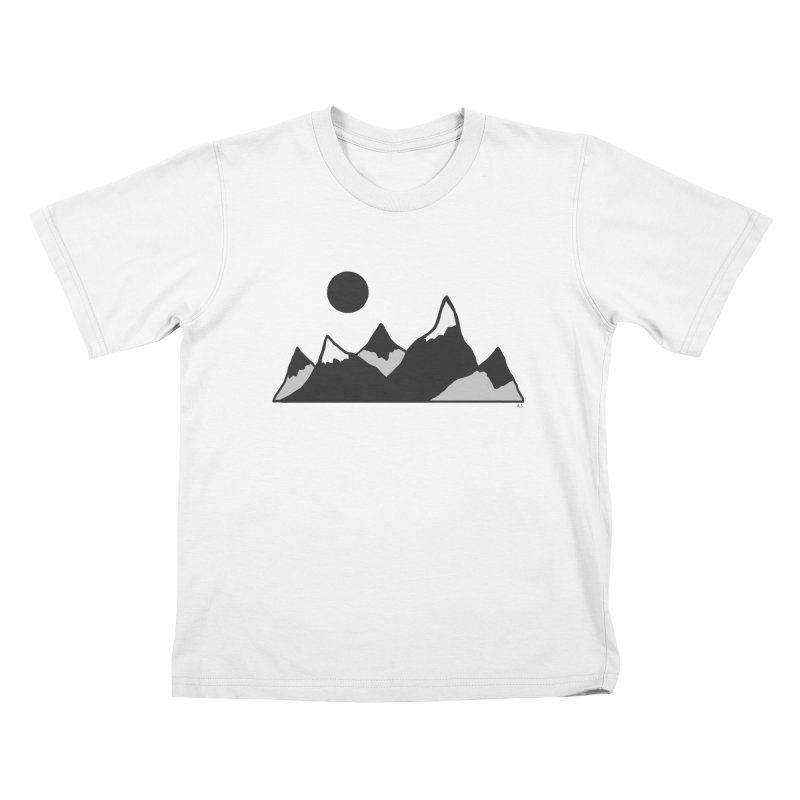 Gray Mountains Kids T-Shirt by Alison Sommer's Artist Shop