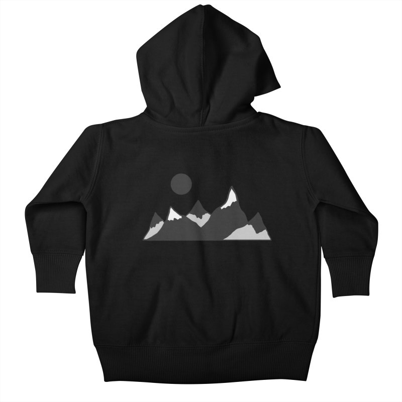Gray Mountains Kids Baby Zip-Up Hoody by Alison Sommer's Artist Shop