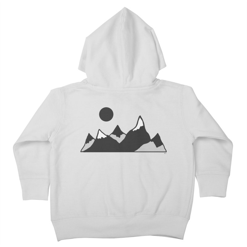 Gray Mountains Kids Toddler Zip-Up Hoody by Alison Sommer's Artist Shop