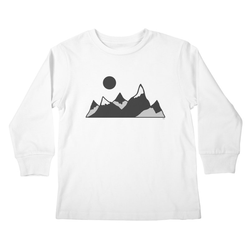 Gray Mountains Kids Longsleeve T-Shirt by Alison Sommer's Artist Shop
