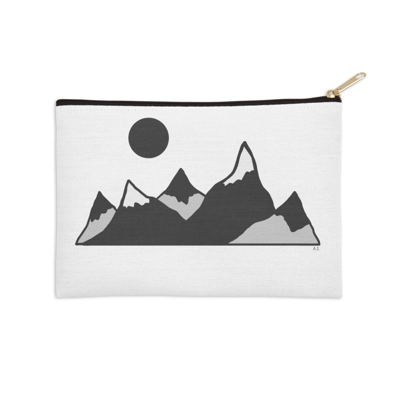 Gray Mountains Accessories Zip Pouch by Alison Sommer's Artist Shop