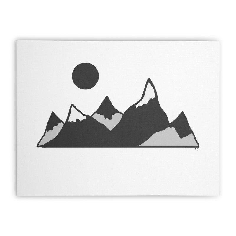 Gray Mountains Home Stretched Canvas by Alison Sommer's Artist Shop