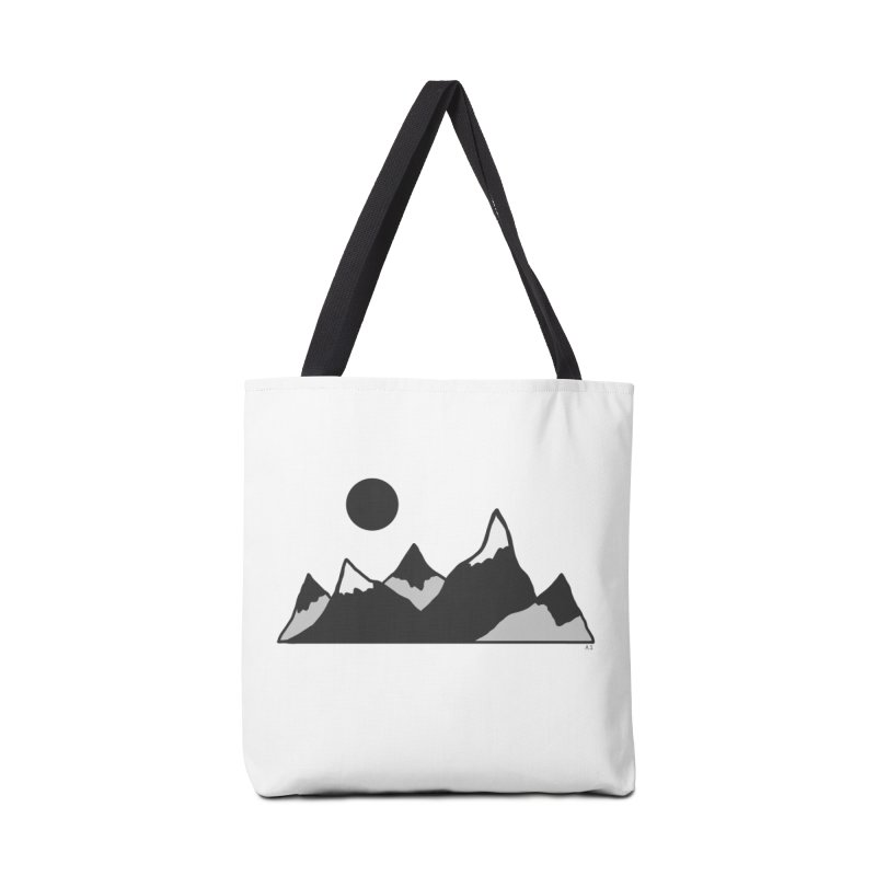 Gray Mountains Accessories Bag by Alison Sommer's Artist Shop