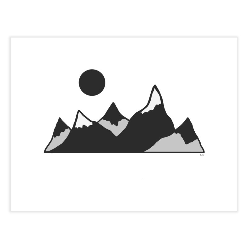 Gray Mountains Home Fine Art Print by Alison Sommer's Artist Shop