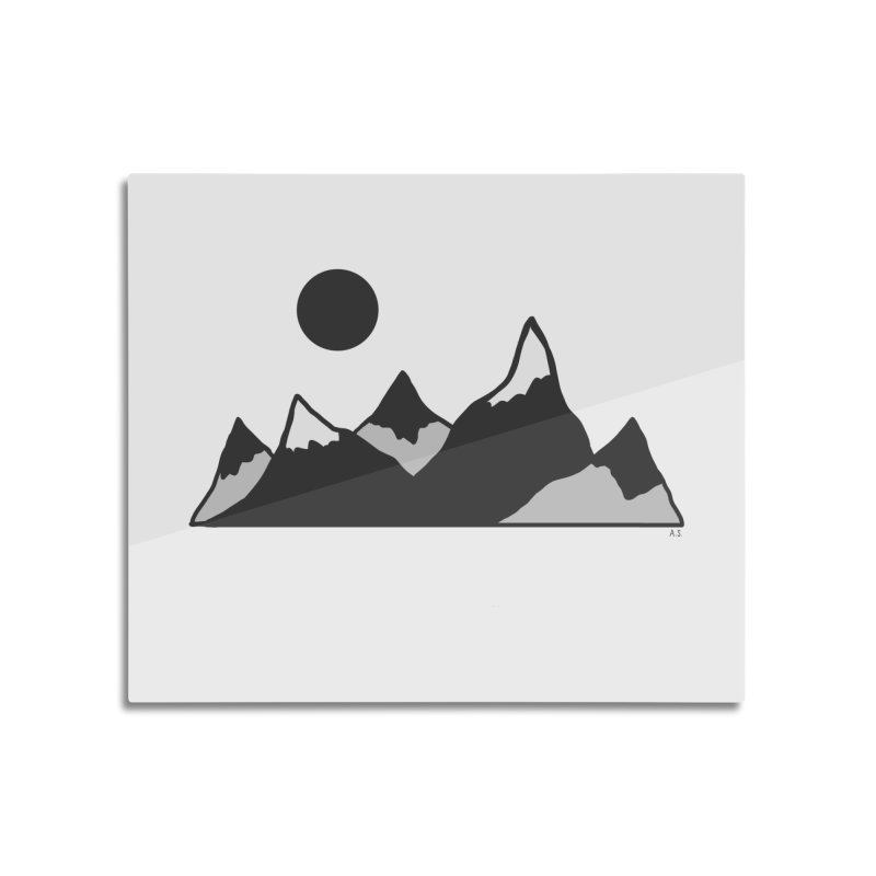 Gray Mountains Home Mounted Acrylic Print by Alison Sommer's Artist Shop